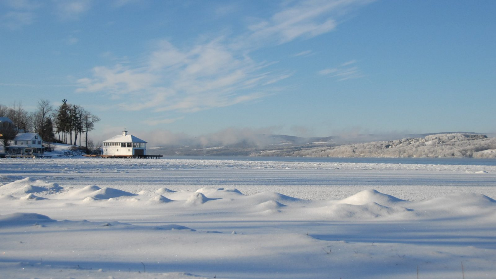 Canandaigua Lake in winter