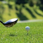 golfball with golf club
