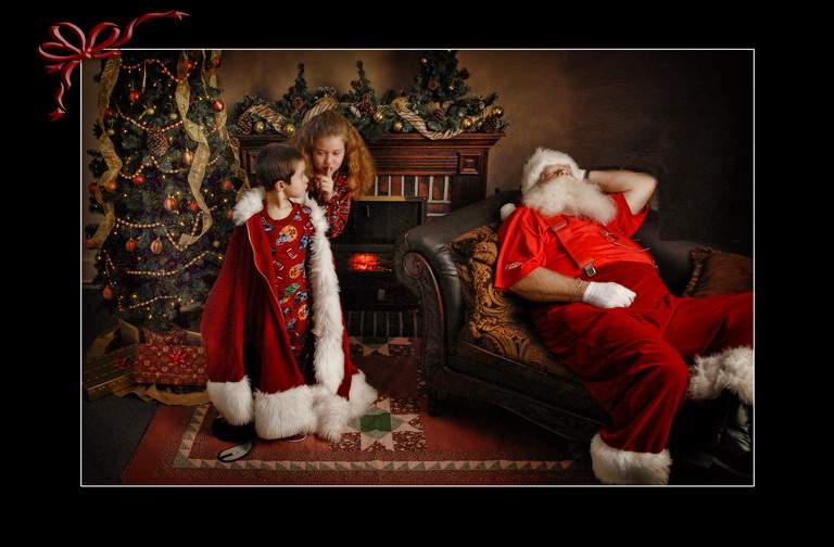 Christmas Santa Children's portrait by Chesler Photography
